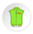 Green baseball jacket icon cartoon style vector image vector image