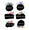 hand drawn cute floral logo template vector image vector image