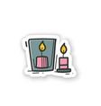 handmade candles sticker