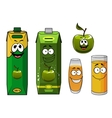 Happy cartoon apple juice vector image vector image