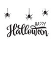 happy halloween greeting hand drawn lettering vector image