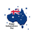 happy independence day of australia greeting card vector image vector image