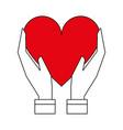heart flat vector image