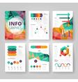 infographics brochure vector image vector image