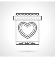 Invitation card with heart flat line icon vector image vector image