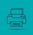 isolated icon of office printer vector image vector image
