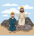 jesus the nazarene and james the lesser in scene vector image vector image