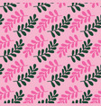 leaves repeat pattern perfect vector image vector image