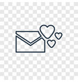 love letter concept linear icon isolated on vector image