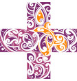 maori style tattoo shape vector image vector image