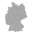 Map of Germany with flag of Berlin vector image vector image