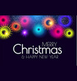 merry christmas and happy new year colorful design vector image vector image