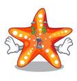 money eye underwater sea in the starfish mascot vector image vector image