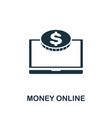 money online icon symbol creative sign from seo vector image vector image