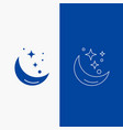 moon night star weather space line and glyph web vector image vector image