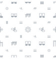 motion icons pattern seamless white background vector image vector image