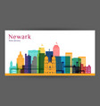 newark city architecture silhouette vector image vector image