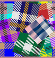 patchwork tartan seamless pattern colorful vector image vector image