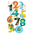 Play and Learn Early Math Learn Numbers Cute vector image