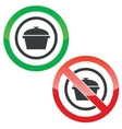 Pot permission signs vector image vector image