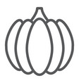 pumpkin line icon vegetable and farm gourd sign vector image