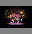pyrotechnics and fireworks poster vector image vector image