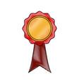 rosette certificate quality premium ribbon icon vector image vector image