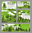 save planet ecology green project posters vector image vector image