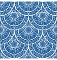 Seamless Blue Floral Mandala Pattern vector image