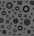 seamless pattern with black gears vector image vector image