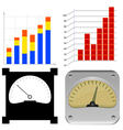 set charts vector image