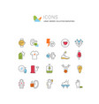 set line icons innovations vector image vector image