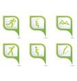 Set of 6 sport GREEN pointer vector image