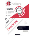 set of brochure cover design and flyer layout vector image vector image
