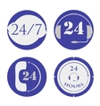 set of open around the clock vector image