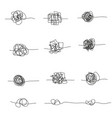 set random chaotic lines vector image vector image