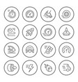set round line icons speed vector image vector image