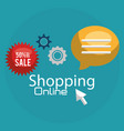 shopping online with offer tags vector image vector image