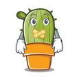 silent cute cactus character cartoon vector image vector image
