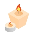 Spa candles isometric 3d icon vector image vector image
