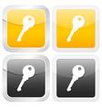 square icon key vector image vector image