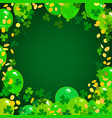 st patricks day background green balloons vector image