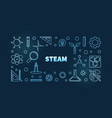 steam concept linear blue horizontal vector image vector image