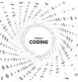 streaming binary code 3d shape vector image