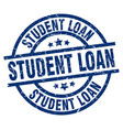 student loan blue round grunge stamp vector image vector image