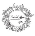template coffee design vector image vector image