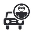 thief car icon vector image vector image
