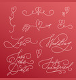 wedding and love inscriptions collection vector image