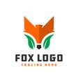 wild fox animal logo vector image vector image
