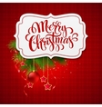 Merry Christmas card creative label vector image